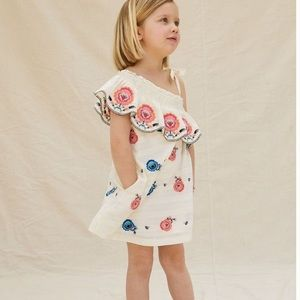Anthropologie embroidered kids dress